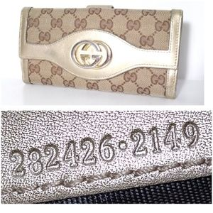 Authentic Gucci GG Canvas Soho Long Leather Wallet